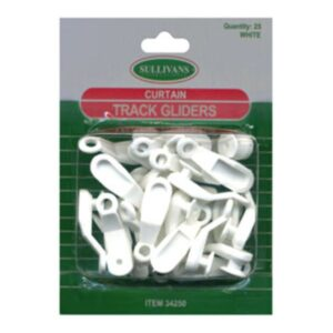 Curtain Track Gliders - 34mm White