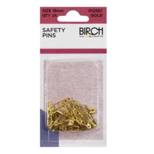 Safety Pins 19mm Gold 24pk