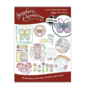 Iron-On Embroidery Patterns - Flower Power