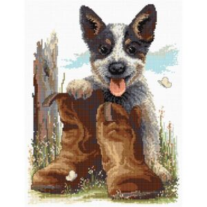 Blueys Boots - Cross Stitch Kit by Country Threads
